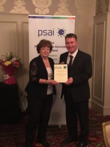 Book award is presented at PSAI conference