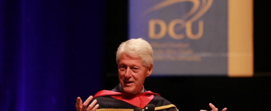 Bill Clinton speaking in DCU